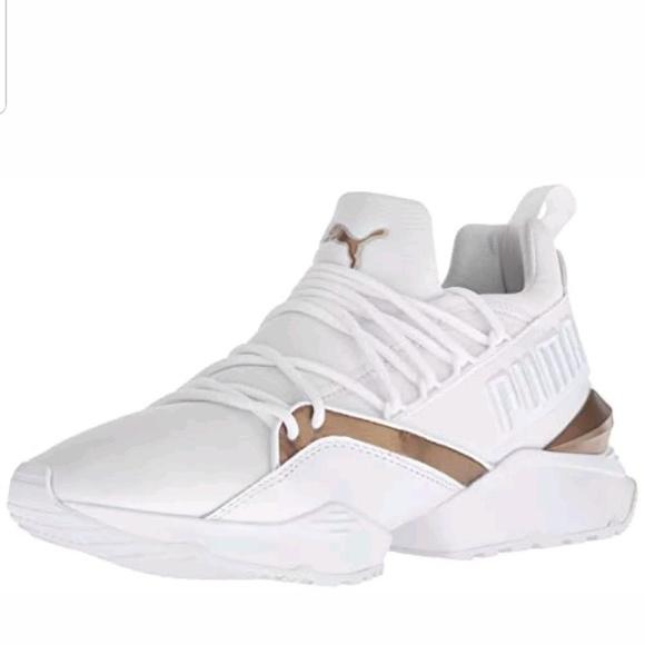 1c7546ee0f7 PUMA Muse Maia Varsity Sneaker NWT